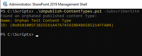 script-sharepoint-Orphaned-content-type-found