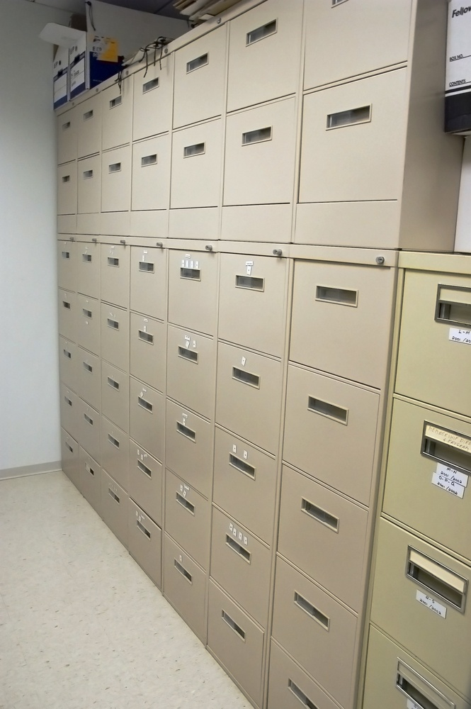 Office cabinets in a narrow room-1