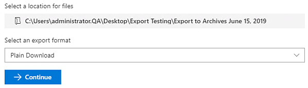 Collabware CLM 4.0 Content Export screenshot
