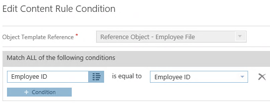 Employee Files 3 Content Rule Condition