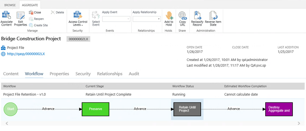 Using Collabware CLM Lifecycle Workflow to manage dynamic employee file behavior as part of unified case management.