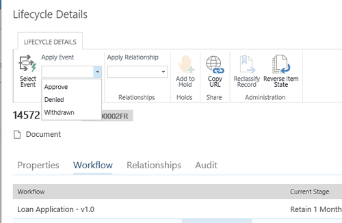 Lifecycle Details in Collabware CLM