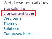 How to Create SharePoint Content Types