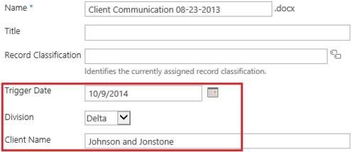 Custom Metadata File