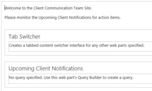 Team Site Web Parts