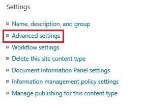 Advanced settings