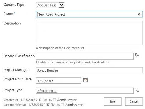 Doc Set Metadata