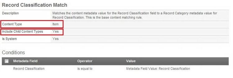 Record Classification Match 1