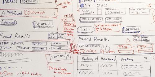 user interface sketch