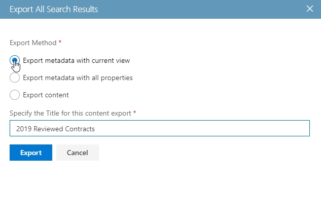 Metadata-Export-search-results