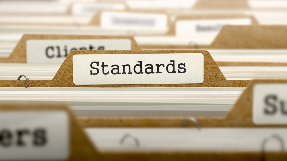 Standards Concept. Word on Folder Register of Card Index. Selective Focus.-3