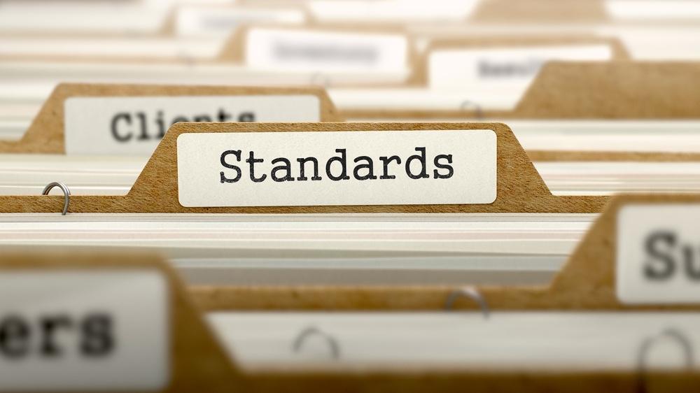 Standards Concept. Word on Folder Register of Card Index. Selective Focus.-3